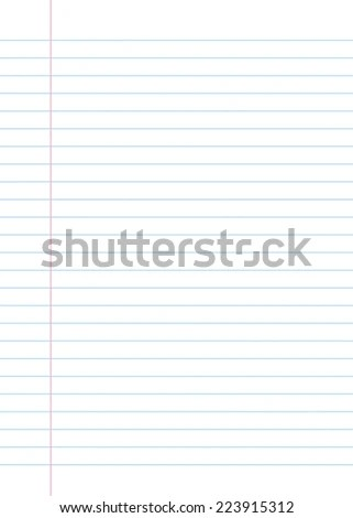 Blank Lined Paper Texture Notebook Notepad Stock Illustration