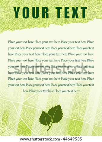 Template Ragged Leaf Texture Background Editable Stock Vector