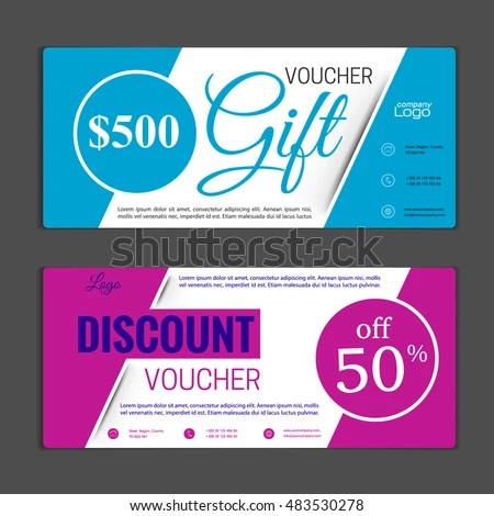 Gift Voucher Template Can Be Use Stock Photo (Photo, Vector
