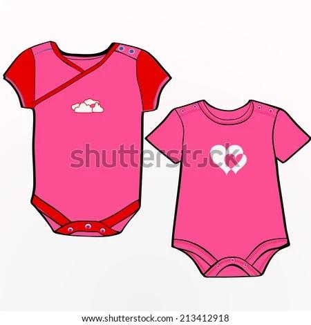 Onesie Template Girls Stock Vector 213412918 - Shutterstock