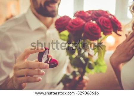 Boy Proposing Girl Hd Wallpaper Handsome Elegant Guy Proposing His Beautiful Stock Photo