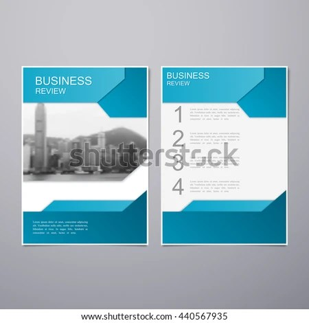 Business Review Leaflet Brochure Flyer A4 Stock Vector 440567935 - business review template