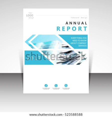 Business Annual Report Brochure Design Vector Stock Vector (Royalty