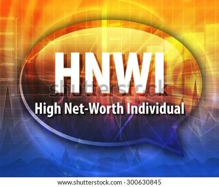 Word Speech Bubble Illustration Business Acronym Stock Illustration - business net worth