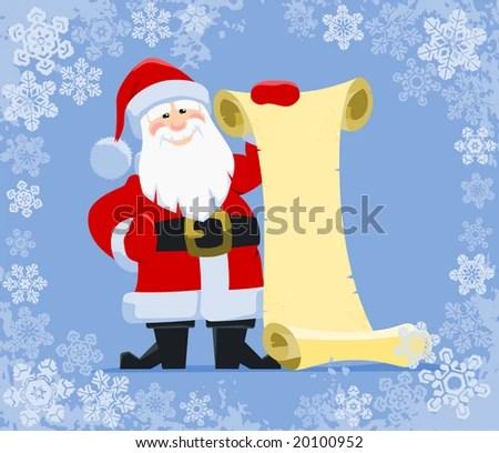 Santas Wish List Santa Claus Holding Stock Photo (Photo, Vector - santa list blank