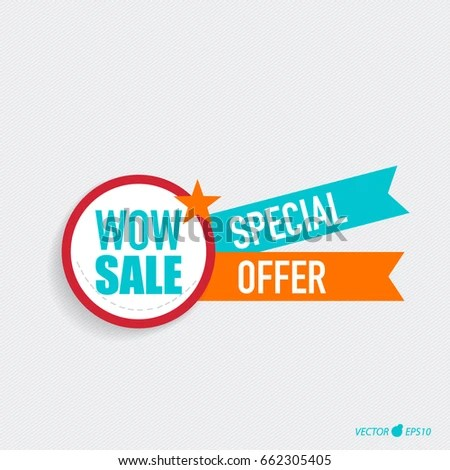 Sale Label Price Tag Template Design Stock Photo (Photo, Vector - sale tag template