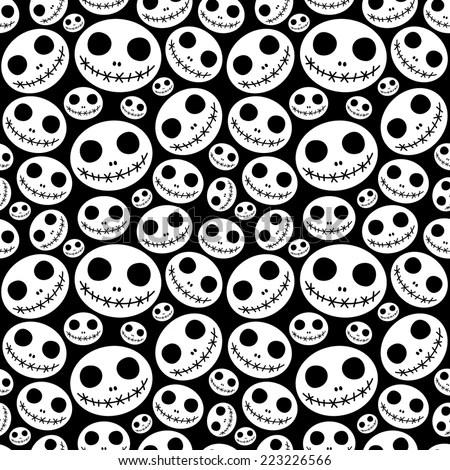 Skeleton Pattern Wallpaper Cute Halloween Pattern Stock Images Royalty Free Images
