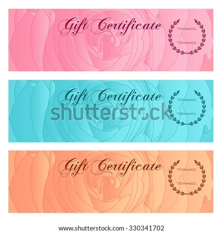 Voucher Gift Certificate Coupon Ticket Template Stock Illustration - money coupon template