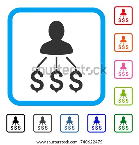 Person Expenses Icon Flat Grey Pictogram Stock Vector 740622475