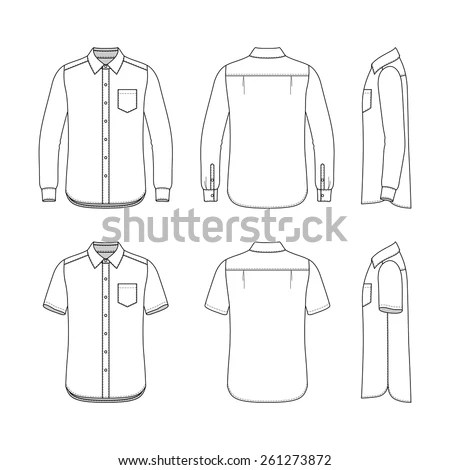 Front Back Side Views Mens Set Stock Photo (Photo, Vector