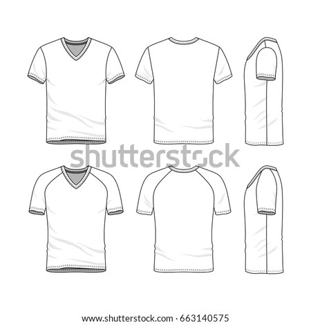 Vector Templates Clothing Set Front Back Stock Vector 663140575