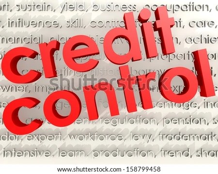 Credit Control Stock Illustration 158799458 - Shutterstock