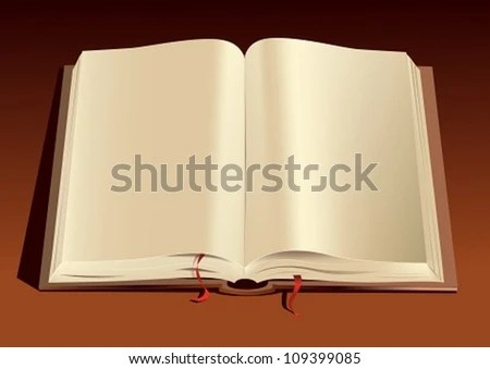 Open Book Vector Illustration Opened Book Stock Vector 109399085 - opened book
