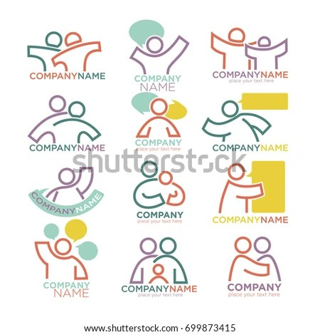 Family Parents Child Care Logo Templates Stock Vector (2018