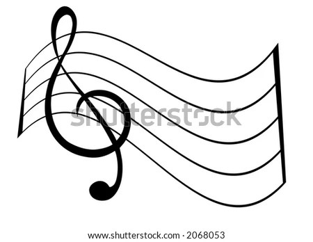 Treble Clef Staff Stock Vector 2068053 - Shutterstock