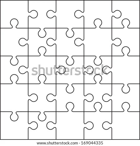 25 Jigsaw Puzzle Blank Template Cutting Stock Vector 169044335 - blank puzzle template