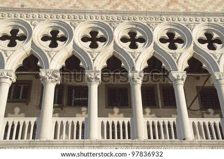 Architectural Details Doges Palace Venice Italy Stock Photo