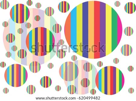 Multiple Polka Dots Stripes Pattern Stock Vector 620499482