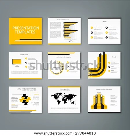 Set Infographic Presentation Template Infographic Element Stock