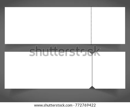 Set Blank Event Concert Ticket Mockup Stock Vector HD (Royalty Free - make your own concert tickets
