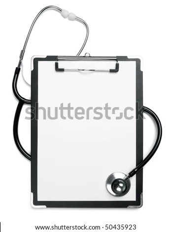 Medical Note Doctors Stethoscope Stock Photo 50435923 - Shutterstock - medical note