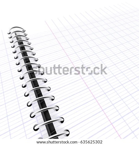 3 D Rendering Open Graph Paper Notebook Stock Illustration 635625302 - 3d graph paper