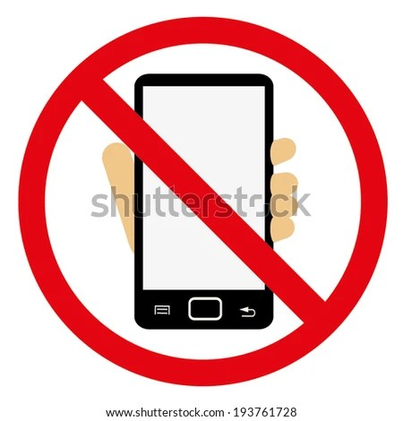 TURN OFF YOUR MOBILE NO CELL Stock Vector (2018) 193761728
