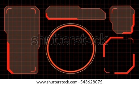 3d Hologram Wallpaper App 3 D Rendering High Tech Hud Stock Illustration 543628075