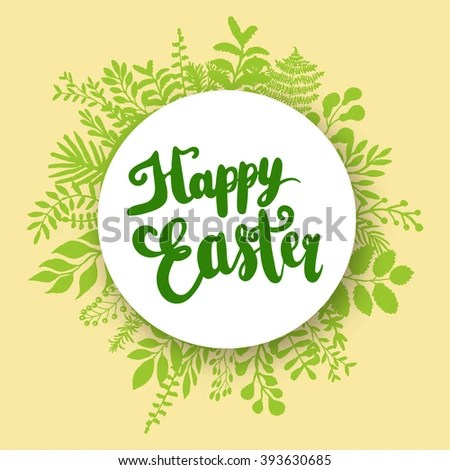 Happy Easter Lettering Design Greeting Card Stock Vector HD (Royalty