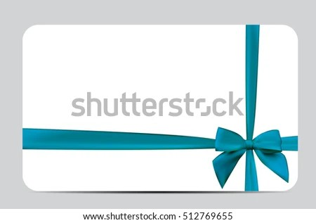 Gift Card Template Silk Ribbon Bow Stock Vector 512769655 - Shutterstock - gift card templates