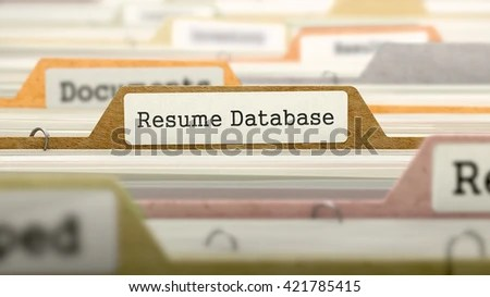 Resume Database Concept Colored Document Folders Stock Illustration