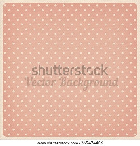 Vector Vintage Dotted Background Realistic Cardboard Stock Vector - dot paper template