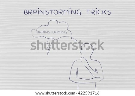 Shutterstock - PuzzlePixdrawings - creative thinking person thought