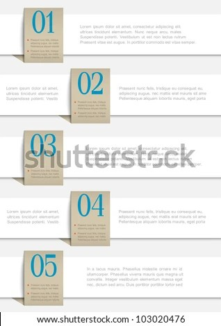 Round Numbered Banners Creative Design Template Stock Vector - white paper templates