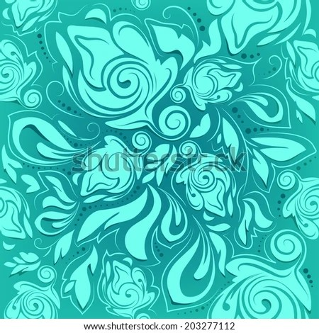 Turquoise And Purple Flower Backgrounds