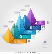 Modern business 3d triangle staircase diagram step options ...