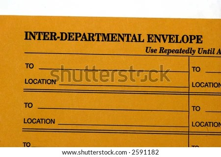 Interdepartmental Envelope Used Interoffice Communication Agatinst
