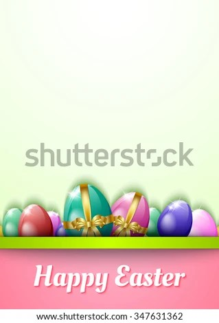 Happy Easter Greeting Card Template Eggs Stock Vector 126228419 - easter greeting card template