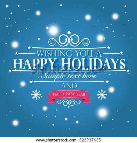 Happy Holidays Happy New Year Wishes Stock Vector 323937635 - happy holidays and new year greetings