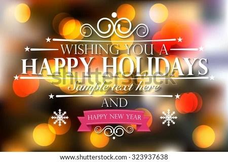 Happy Holidays Happy New Year Wishes Stock Vector (Royalty Free - happy holidays and new year greetings