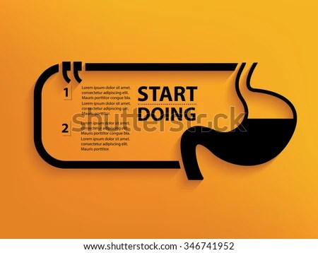 Stomach Quotation Mark Speech Bubble Design Stock Vector HD (Royalty