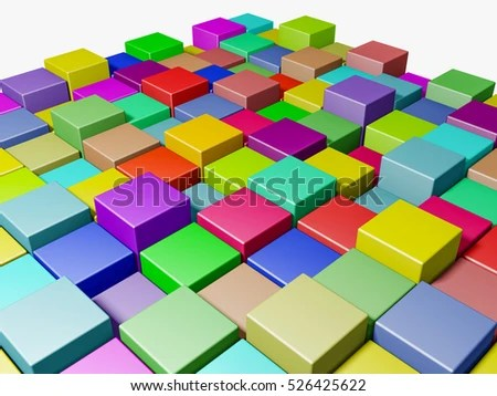 Color Boxes Background 3 D Rendering Stock Illustration 526425622