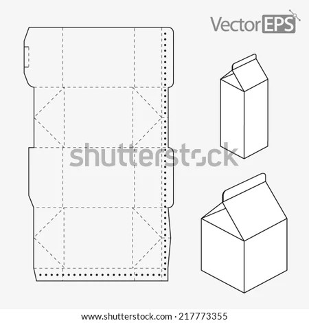 Milk Carton Stock Vector 217773355 - Shutterstock - Milk Carton Template