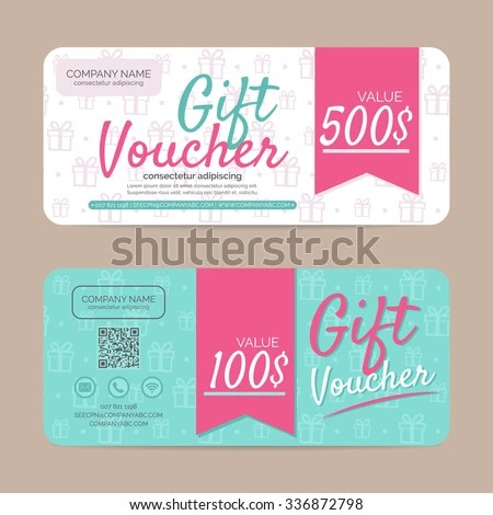 Gift Voucher Template Eps 10 Vector Format Stock Vector (2018 - gift voucher format