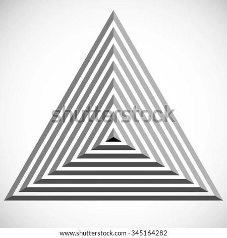Pyramid Logo Design Triangle Template Vector Stock Vector 345164282 - pyramid template