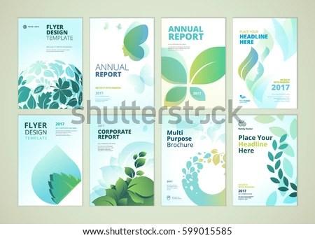 Nature Healthcare Brochure Cover Design Flyer Stock Vector (2018 - healthcare brochure