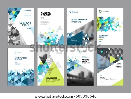 Brochure Annual Report Flyer Design Templates Stock Vector 609338648