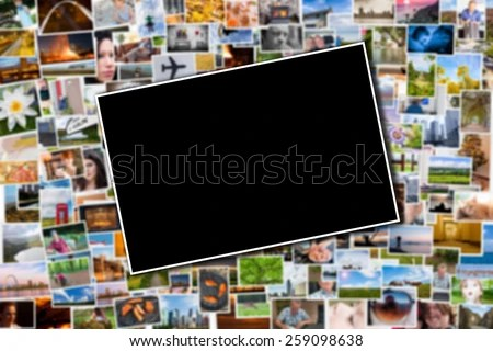 Postcard Photo Template Blurred Background Photos Stock Photo - postcard collage template