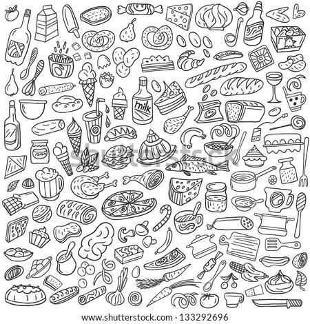 Cute Sushi Wallpaper Foods Doodles Hand Drawn Sketchy Vector Stock Vector