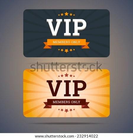 Vip Club Card Design Templates Flat Stock Vector (2018) 232914022 - club card design
